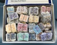 NEW YORK STOCK TRANSFER TAX REVENUE STAMPS CIGAR BOX PACKED FULL