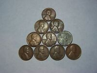 10 LINCOLN WHEATS 1911 1917 D 1941 D 1941 S 1943 1944 D 1948 D 1950 S 1952 1957