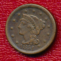 1851 BRAIDED HAIR LARGE CENT A NICE CIRCULATED LARGE CENT