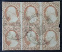 CKSTAMPS: US STAMPS COLLECTION SCOTT11 3C WASHINGTON USED LIGHTLY CREASE