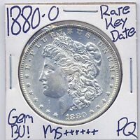 1880 O MORGAN DOLLAR  KEY DATE US MINT GEM PQ SILVER COIN BU UNC MS