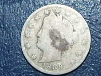 1889 LIBERTY NICKEL  OLD US COLLECTOR COIN   517