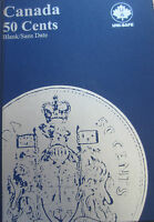 COMPLETE SET OF CANADA HALF DOLLARS COINS  1968 2017  IN UNI SAFE BLUE BOOK