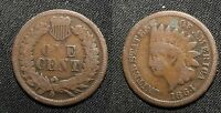 1864 BRONZE U.S. INDIAN HEAD CENT  - SOLID GOOD GREEN SPOT   STKFJP639