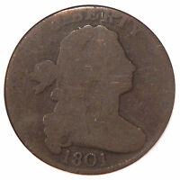 1801 1C PCGS AG 03   EARLY COPPER LARGE CENT IN OLDER HOLDER