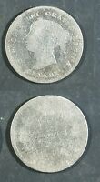 1888  CANADA 5 CENT SILVER   AG/G POLISHED   STK2D77