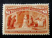 NYSTAMPS US STAMP  241 MINT H $1100