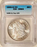 1900-O/CC $1 ICG MINT STATE 64 VAM-11  BETTER DATE TOP-100 MORGAN DOLLAR VARIETY