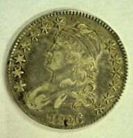 1826 CAPPED BUST SILVER HALF EXTRA FINE  LIGHTLY CLEANED       2342NAM