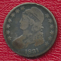1831 CAPPED BUST SILVER HALF DOLLAR RICH TONING SHIPS FREE