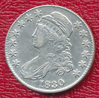 1830 CAPPED BUST SILVER HALF DOLLAR LUSTROUS & BEAUTIFUL SHIPS FREE