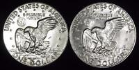 PAIR-1978-P&D CHOICE BU EISENHOWER DOLLAR - WHITE - VALUE @ CHERRYPICKERCOINS