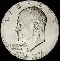 1976 TY 2 CHOICE BU EISENHOWER DOLLAR - ALL WHITE - VALUE @ CHERRYPICKERCOINS