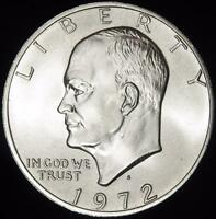 1972-S 40 SILVER GEM BU EISENHOWER DOLLAR - WHITE - VALUE @ CHERRYPICKERCOINS