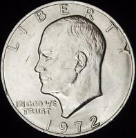 1972 CHOICE BU EISENHOWER DOLLAR - ALL WHITE - BEST VALUE @ CHERRYPICKERCOINS