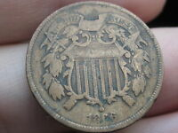 1866 TWO 2 CENT PIECE- VG/ GOOD DETAILS- CIVIL WAR TYPE COIN