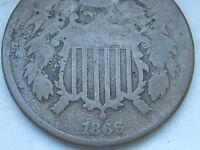 1866 TWO 2 CENT PIECE- CIVIL WAR TYPE COIN- VG DETAILS, FULL DATE