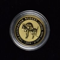 2004 $5 AUSTRALIA GOLD NUGGET 1/20 OZ .9999 FINE IN OGP CAP