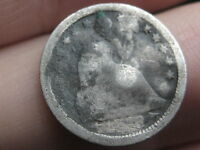 1853 P SEATED LIBERTY HALF DIME WITH ARROWS