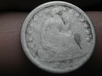 1856 P SEATED LIBERTY HALF DIME  OLD TYPE COIN