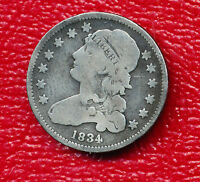 1834 CAPPED BUST SILVER QUARTER VERY NICE CIRCULATED