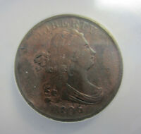 1806 1/2  CENT HALF CENT SMALL 6 NO STEMS C-1 ANACS VF 35 -- FREE SHIPPINNG