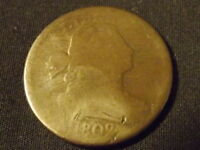 COLLECTIBLE UNITED STATES COIN:1802 U.S. MINT DRAPED BUST LARGE CENT COIN ABOUTG