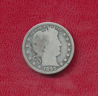 1897 S BARBER SILVER QUARTER  KEY DATE    NICE CIRCULATED