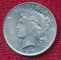1927-D PEACE SILVER DOLLAR BEAUTIFUL GENTLY CIRCULATED DOLLAR SHIPS FREE