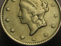 1853 $1 GOLD LIBERTY HEAD ONE DOLLAR COIN