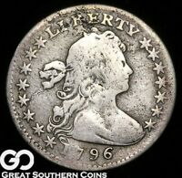 1796 DRAPED BUST HALF DIME LIKERTY SMALL EAGLE  EARLY SILVER SURVIVOR