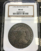 UNIQUE OLDEST HIGHEST AND ST OF ALL SERIS OF ENTIRE 1795 $1 OFF NGC MS62