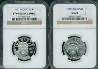 1997 P & 1997 W $50 PLATINUM EAGLE NGC MS69 & PF69  PR69  FIRST YEAR 2 COINS SET