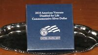 2010 AMERICAN VETERANS DISABLED FOR LIFE PROOF SILVER DOLLAR