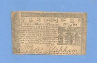 1774 $ 2/3RD MARYLAND COLONIAL CURRENCY HISTORY BRIGHT FINE CONDITION