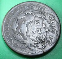 1833 DOUBLE STRUCK US LARGE CENT MINT ERROR CORONET HEAD ANTIQUE CURRENCY COIN