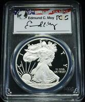 2011 W $1 PROOF SILVER EAGLE PCGS PR70 DC 25TH ANNIV. SET MOY SIGNATURE  POP 9