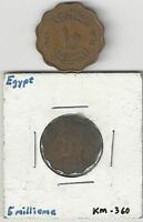 2 OLDER COINS FROM EGYPT   5 & 10 MILLIEMES  BOTH DATING 1943