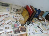 NYSTAMPS G THOUSANDS MINT USED OLD US STAMP & COVER COLLECTION ALBUMS & BOX