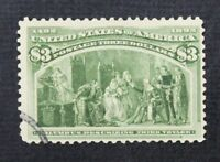 CKSTAMPS: US STAMPS COLLECTION SCOTT243 $3 COLUMBIAN USED CV$825