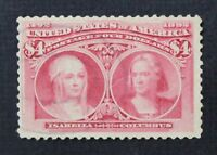 CKSTAMPS: US STAMPS COLLECTION SCOTT244 $4 COLUMBIAN USED LIGHTLY CREASE $1050