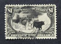 CKSTAMPS: US STAMPS COLLECTION SCOTT292 $1 USED THIN CV$725