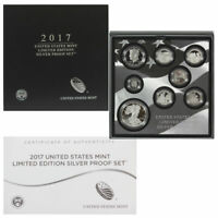 2017 S PROOF SILVER LIMITED EDITION PROOF SET IN OGP SHIPS SAME DAY 17RC EAGLE