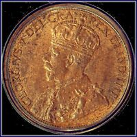 1913 CANADIAN LARGE PENNY  LUSTROUS RED BROWN UNCIRCULATED  BUY FOR $12.95