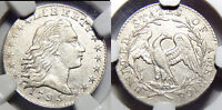 1795  HALF 10C NGC- EXTRA FINE 45- FLOWING HAIR 1/2 DIME//