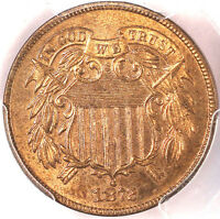 1872 2C PR65RB PCGS- ONLY 28 IN HIGHER GRADE-MINTAGE 950 ONLY--PQ -TWO CENTS