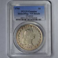 1795 $1 FLOWING HAIR SILVER DOLLAR 2 LEAVES VARIETY PCGS GENUINE