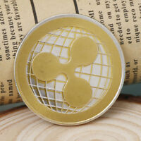 GOLD & SILVER IRON RIPPLE COMMEMORATIVE ROUND COLLECTORS COIN XRP PHYSICAL GIFTS