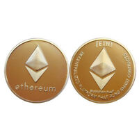 GOLD PLATED ETHEREUM ETH COLLECTIBLE ART COMMEMORATIVE PHYSICAL IMITATION COINS
