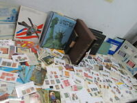 NYSTAMPS G THOUSANDS MINT USED OLD US STAMP & BLOCK COLLECTION ALBUMS IN CARTON
